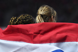 11-08-2018 ATLETIEK: EUROPESE KAMPIOENSCHAPPEN: BERLIJN<br />Zilver voor Dafne Schippers en brons voor Jamile Samuel op de 200 meter.<br /><br />Foto: SCS/Erik van Leeuwen