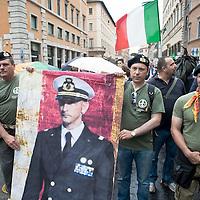 Manifestazione per la liberazione dei Marò