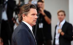 Ethan Hawke attend the 'First Reformed' red carpet  during the 74th Venice Film Festival in Venice, Italy, on August 31, 2017. (Photo by Matteo Chinellato/NurPhoto/Sipa USA)