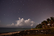 A long exposure of the night sky from a golf course at Punta Cana Resort and Club, Dominican Republic, July 29, 2013.