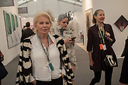 EVA O'NEILL, RAMINTA SAVICKLATE, DEBORAH MILNER, Frieze opening day. Regent's Park. London. 2 October 2019