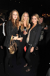 Left to right, CHLOE FLEMING, MILLY ALLSOPP and LAUREN REAGAN at the Tatler Magazine Little Black Book party at Tramp, 40 Jermyn Street, London SW1 on 5th November 2008.