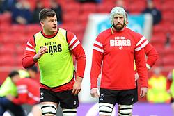 Bristol Bears players warm up ahead of kick-off  - Mandatory by-line: Nizaam Jones/JMP - 19/01/2019 - RUGBY - Ashton Gate Stadium - Bristol, England - Bristol Bears v Enisei-STM - European Rugby Challenge Cup