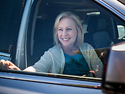 26 MAY 2019 - WATERLOO, IOWA: US Senator KIRSTEN GILLIBRAND (D-NY) leaves Mt. Carmel Missionary Baptist Church after attending services at the church in Waterloo. Sen. Gillibrand is on her 5th trip to Iowa this week to support her candidacy to be the Democratic nominee for the US Presidency. Iowa traditionally hosts the the first selection event of the presidential election cycle. The Iowa Caucuses will be on Feb. 3, 2020. Mt. Carmel Missionary Baptist Church was established in 1921 and is the third oldest African-American church in Waterloo. Waterloo has the largest African-American community in Iowa.             PHOTO BY JACK KURTZ