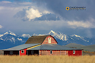 Old barn in the Mission Valley, Montana, USA