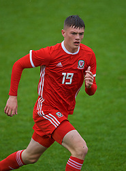 NEWPORT, WALES - Monday, October 14, 2019: Wales' Will Russ during an Under-19's International Friendly match between Wales and Austria at Dragon Park. (Pic by David Rawcliffe/Propaganda)