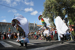 May 6, 2017 - Spain - Five countries and 37 other places joined the parade in Lisbon with a strong ancestral energy. (Credit Image: © Mercedes Menendez/Pacific Press via ZUMA Wire)