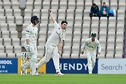 Josh Tongue of Worcestershire bowling during the Specsavers County Champ Div 1 match between Hampshire County Cricket Club and Worcestershire County Cricket Club at the Ageas Bowl, Southampton, United Kingdom on 13 April 2018. Picture by Graham Hunt.