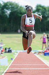 Nony Mordi of Shaftesbury Barnet in the Triple Jump, UK Women's Athletics League - Premier Division Match 3, Norman Park Bromley, UK on 03 August 2013. Photo: Simon Parker