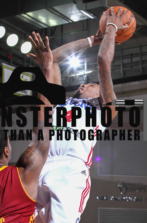 Delaware 87ers Guard JORDAN MCRAE (4) drives towards the basket in the first half of a NBA D-league regular season basketball game between the Delaware 87ers (76ers) and the Canton Charge (Cleveland Cavaliers) Tuesday, Nov. 17, 2015, at The Bob Carpenter Sports Convocation Center in Newark, DEL