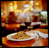 """Restaurant Au Pied de Cochon. As the name -- which means """"the pig's foot"""" -- suggests, the menu here is mostly about slabs of meat, especially pork.  Pictured here is seared fois gras poutine, a classic Canadian dish served up in haute cuisine."""