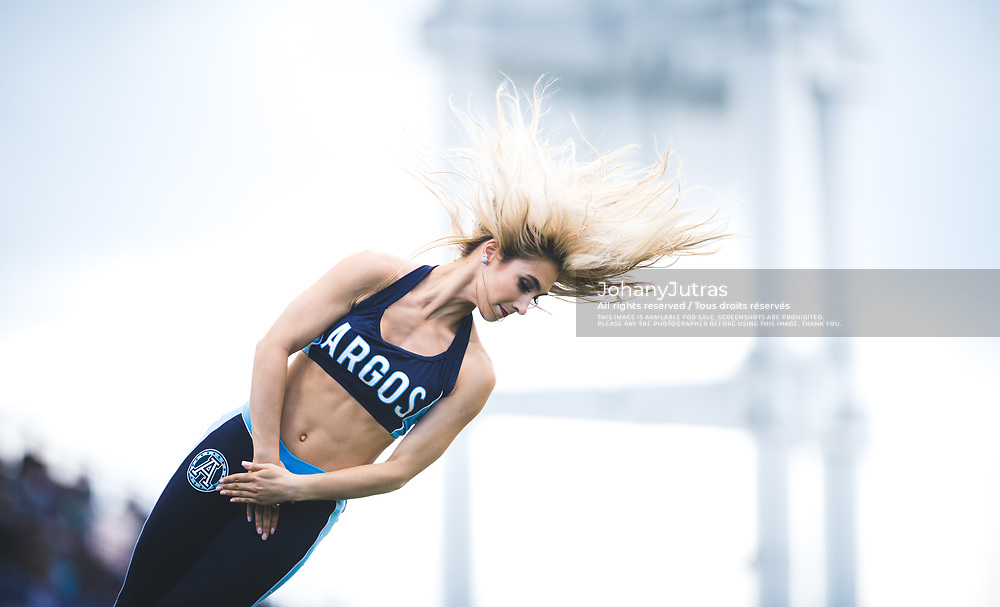 Argo cheerleader during the game against the Hamilton Tiger-Cats at BMO Field in Toronto, On., Sunday, June 25, 2017. (Photo: Johany Jutras)