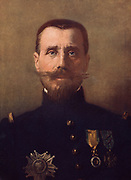 Brigadier General Henri Gouraud (1867-1946) French Army infantry officer.  Graduated from St-Cyr military academy in 1888. In the First World War in 1915 he commanded the French forces in the Dardenelles and lost an arm at Gallipoli.