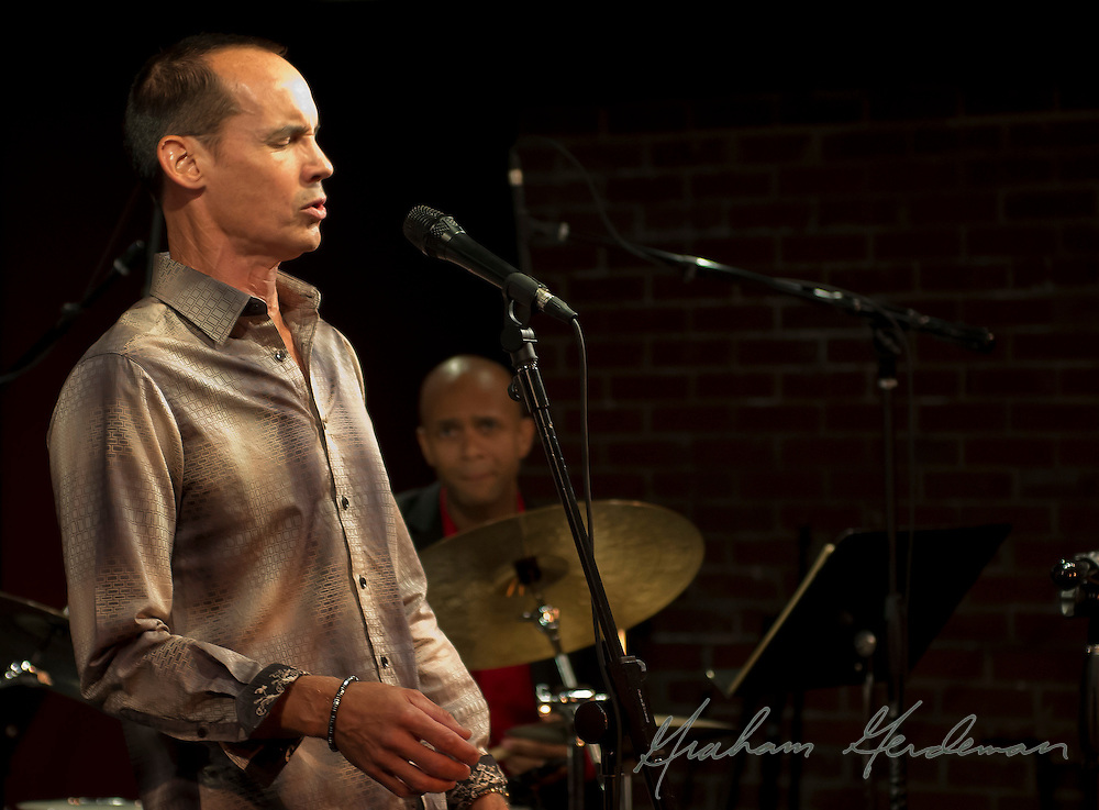 Vocalist Jeff Hall performs at the Nashville Jazz Workshop - with drummer Marcus Finnie