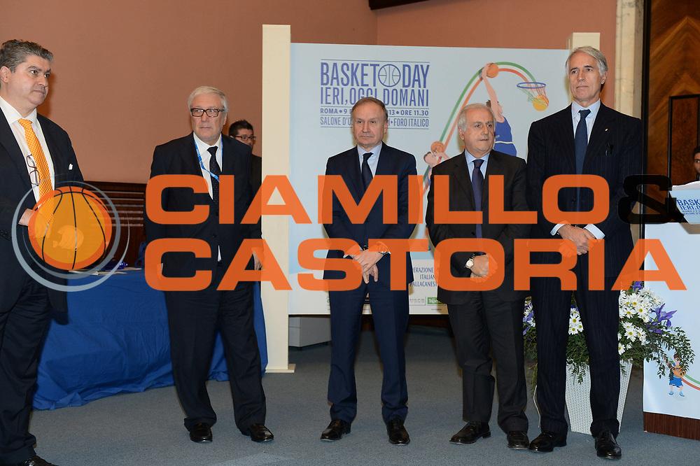 DESCRIZIONE : Roma Basket Day ieri, oggi e domani<br /> GIOCATORE : Cacciuni Laguardia Petrucci Fabbricini Malago'<br /> CATEGORIA : <br /> SQUADRA : <br /> EVENTO : Basket Day ieri, oggi e domani<br /> GARA : <br /> DATA : 09/12/2013<br /> SPORT : Pallacanestro <br /> AUTORE : Agenzia Ciamillo-Castoria/GiulioCiamillo<br /> Galleria : Fip 2013-2014  <br /> Fotonotizia : Roma Basket Day ieri, oggi e domani<br /> Predefinita :