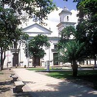 Plaza Bolivar y catedral, San Carlos, Estado Cojedes, Venezuela.