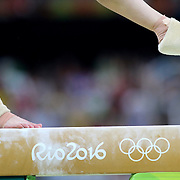 Gymnastics - Olympics: Day 2   Sherine Elzeiny #331 of Egypt performing her routine on the Balance Beam during the Artistic Gymnastics Women's Team Qualification round at the Rio Olympic Arena on August 7, 2016 in Rio de Janeiro, Brazil. (Photo by Tim Clayton/Corbis via Getty Images)