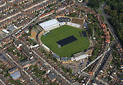 aerial photograph of  the County Cricket Ground, Northampton Northampton Northamptonshire  England UK