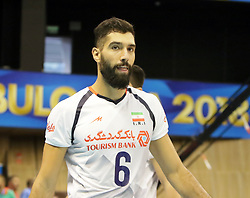 September 12, 2018 - Varna, Bulgaria - Seyed Mohammad ERAGHI (Iran), .FIVB Volleyball Men's World Championship 2018, pool D, Iran vs Puerto Rico,. Palace of Culture and Sport, Varna/Bulgaria, .the teams of Finland, Cuba, Puerto Rico, Poland, Iran and co-host Bulgaria are playing in pool D in the preliminary round. (Credit Image: © Wolfgang Fehrmann/ZUMA Wire)