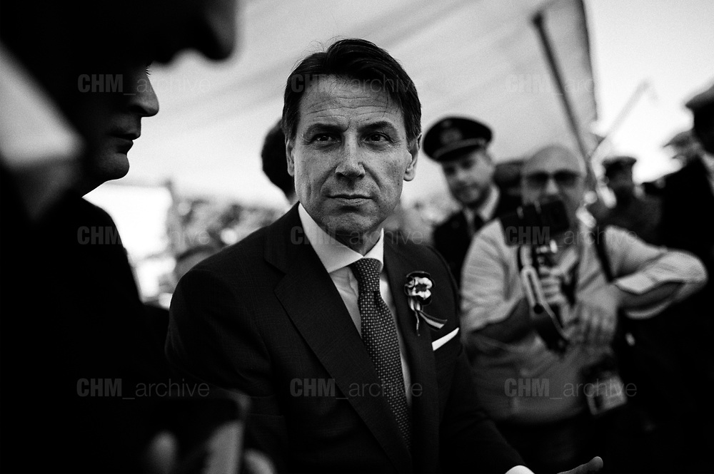 Giuseppe Conte ,Republic Day, ceremony to mark the anniversary of the Italian Republic on June 02, 2018 in Rome, Italy. Christian Mantuano / OneShot