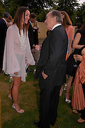 Tamara Mellon and Lord Palumbo. The Serpentine Summer party co-hosted by Jimmy Choo. The Serpentine Gallery. 30 June 2005. ONE TIME USE ONLY - DO NOT ARCHIVE  © Copyright Photograph by Dafydd Jones 66 Stockwell Park Rd. London SW9 0DA Tel 020 7733 0108 www.dafjones.com