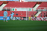 Coventry city's David McGoldrick (31) scores his sides 2nd goal.  NPower league one, Swindon Town v Coventry city at the County Ground in Swindon on Saturday 13th October 2012.  pic by  Andrew Orchard, Andrew Orchard sports photography,