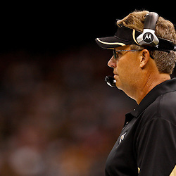 August 21, 2010; New Orleans, LA, USA; New Orleans Saints defensive coordinator Gregg Williams during a 38-20 win by the New Orleans Saints over the Houston Texans during a preseason game at the Louisiana Superdome. Mandatory Credit: Derick E. Hingle
