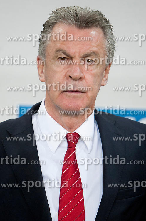 Hitzfeld Ottmar, head coach of Sweitterland during qualifications football match for world cup 2014 in Brazil between national team of Slovenia and Switzerland, on September 7, 2012 in Ljubljana, Slovenia. (Photo by Urban Urbanc / Sportida.com)