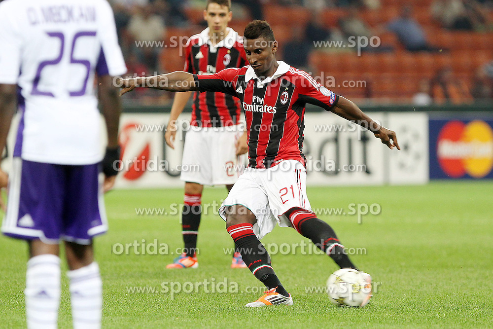18.09.2012, Stadio Giuseppe Meazza, Mailand, ITA, UEFA Champions League, AC Mailand vs RSC Anderlecht, Gruppe C, im Bild Kevin Constant Milan // during the UEFA Champions League group C match between AC Milan and RSC Anderlecht at the Stadio Giuseppe Meazza, Milano, Italy on 2012/09/18. EXPA Pictures © 2012, PhotoCredit: EXPA/ Insidefoto/ Paolo Nucci..***** ATTENTION - for AUT, SLO, CRO, SRB, SUI and SWE only *****