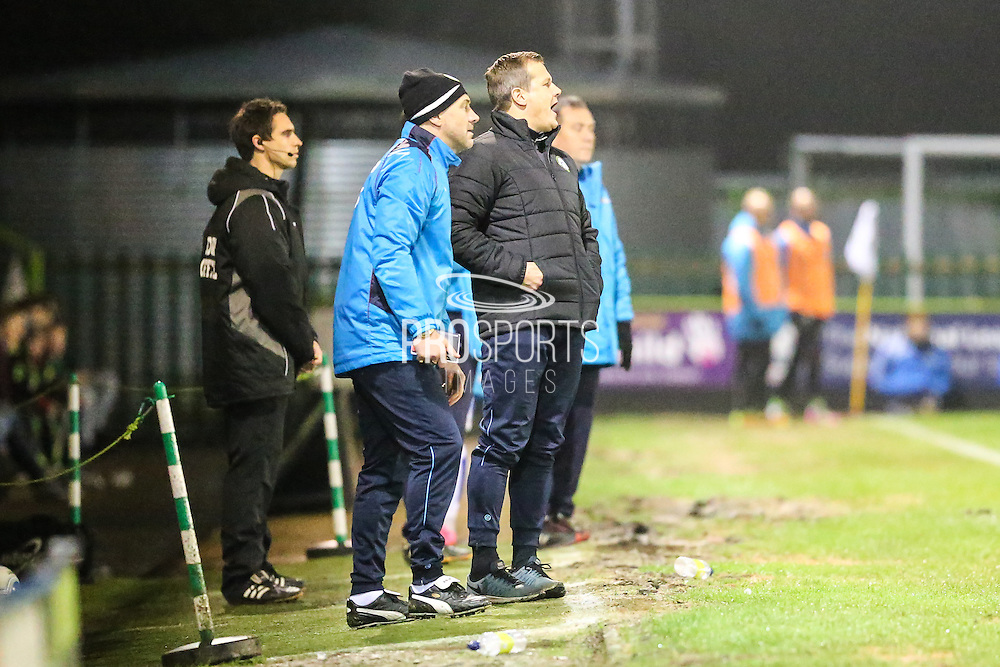 Forest Green Rovers manager, Mark Cooper during the Vanarama National League match between Forest Green Rovers and Tranmere Rovers at the New Lawn, Forest Green, United Kingdom on 22 November 2016. Photo by Shane Healey.