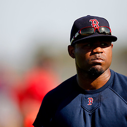 February 23, 2011; Fort Myers, FL, USA; Boston Red Sox left fielder Carl Crawford (13) during spring training at the Player Development Complex.  Mandatory Credit: Derick E. Hingle