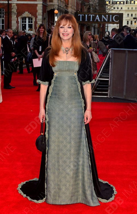 27.MARCH.2012. LONDON<br /> <br /> FRANCES FISHER AT THE TITANIC 3D PREMIERE HELD AT THE ROYAL ALBERT HALL IN KENSINGTON, LONDON<br /> <br /> BYLINE: EDBIMAGEARCHIVE.COM/JOE ALVAREZ<br /> <br /> *THIS IMAGE IS STRICTLY FOR UK NEWSPAPERS AND MAGAZINES ONLY*<br /> *FOR WORLD WIDE SALES AND WEB USE PLEASE CONTACT EDBIMAGEARCHIVE - 0208 954 5968*