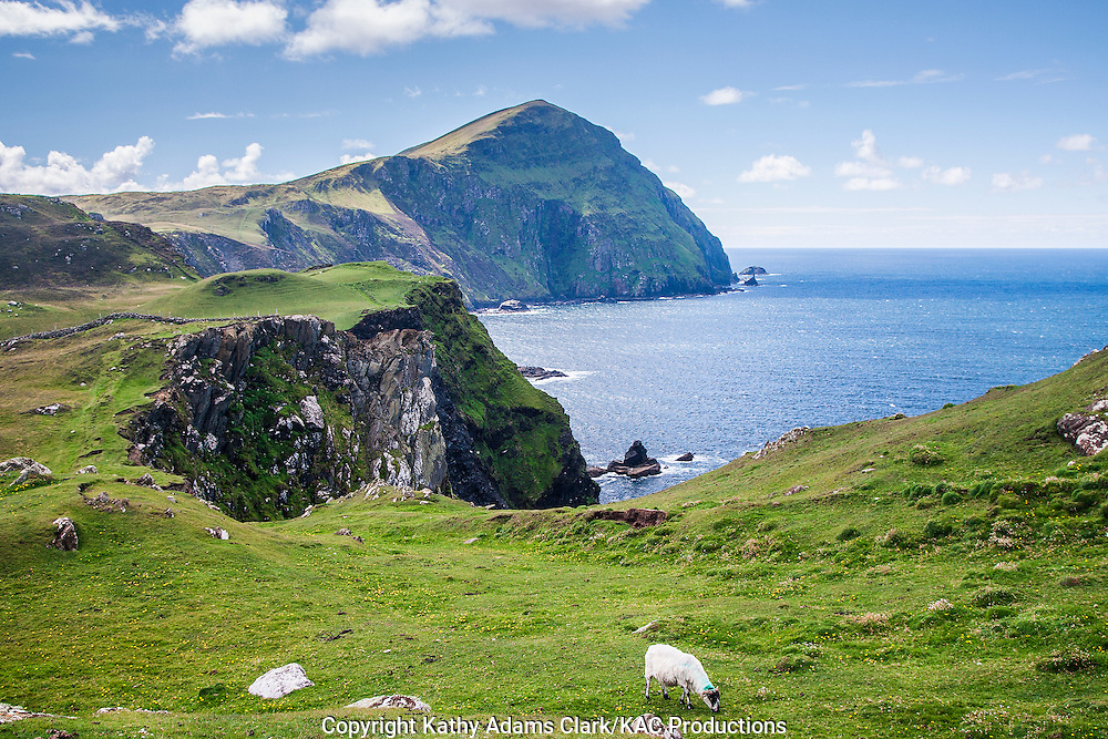 Coastline of Clare Island off coast of western Ireland.