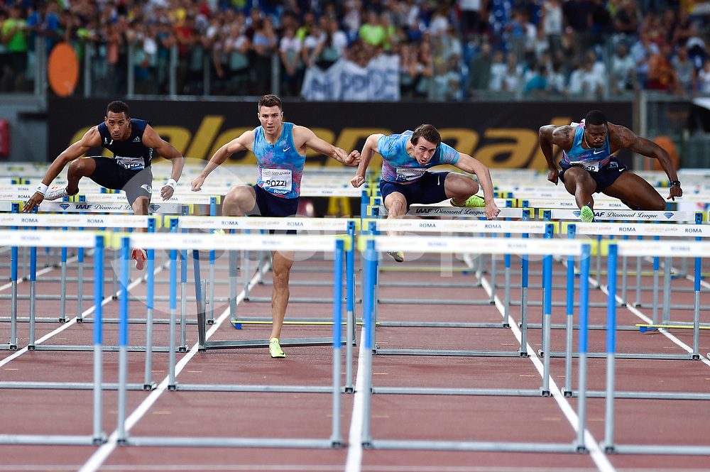 Andrew Pozzi of Great Britain competes in the Men's 110 m hurdles during the IAAF Diamond League Golden Gala Pietro Mennea at Stadio Olimpico, Rome, Italy on 8 June 2017. Photo by Giuseppe Maffia.