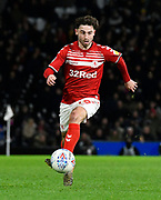 Patrick Roberts (19) of Middlesbrough \on the attack during the EFL Sky Bet Championship match between Fulham and Middlesbrough at Craven Cottage, London, England on 17 January 2020.