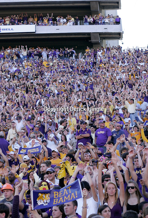 08 November 2008:  Fans in the stands during Alabama's 27-21 overtime victory over the LSU Tigers at Tiger Stadium in Baton Rouge, LA.
