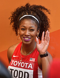 23-08-2015 CHN: IAAF World Championships Athletics day 2, Beijing<br /> Jasmine TODD USA<br /> Photo by Ronald Hoogendoorn / Sportida