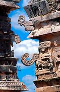 MEXICO, MAYAN, YUCATAN Chichén Itzá; Nunnery with 'Chac' detail