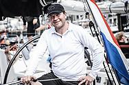 20-05-2018: Zeilen: The North Sea Regatta: Scheveningen<br /> <br /> (L-R) Zeiler Frans Rodenburg na afloop van de North Sea Regatta in de haven van Scheveningen<br /> <br /> Foto: Gertjan Kooij