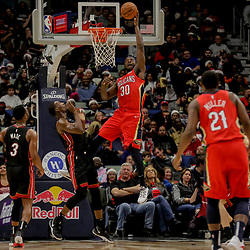 Dec 16, 2018; New Orleans, LA, USA; New Orleans Pelicans forward Julius Randle (30) shoots against the Miami Heat during the first half at the Smoothie King Center. Mandatory Credit: Derick E. Hingle-USA TODAY Sports