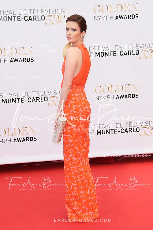 MONTE-CARLO, MONACO - JUNE 13:  Bitsie Tulloch attends the closing ceremony of the 53rd Monte Carlo TV Festival on June 13, 2013 in Monte-Carlo, Monaco.  (Photo by Tony Barson/FilmMagic)
