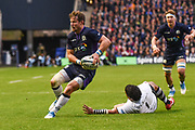 Pete Horne on the ball during the 2018 Autumn Test match between Scotland and Fiji at Murrayfield, Edinburgh, Scotland on 10 November 2018.