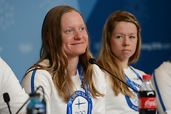 February 8, 2018 - Pyeonchang, Republic of Korea - LAURA MONONEN of the Finnish cross country ski team at a press conference prior to the start of the 2018 Olympic Games (Credit Image: © Christopher Levy via ZUMA Wire)