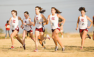 September 10, 2011: The Oklahoma Christian University Eagles women's cross country team participates in the UCO Land Run at Mitch Park in Edmond, OK.
