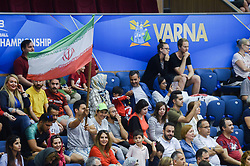September 12, 2018 - Varna, Bulgaria - The fans of Iran during Iran vs Puerto Rico, pool D, during 2018 FIVB Volleyball Men's World Championship Italy-Bulgaria 2018, Varna, Bulgaria on September 12, 2018  (Credit Image: © Hristo Rusev/NurPhoto/ZUMA Press)