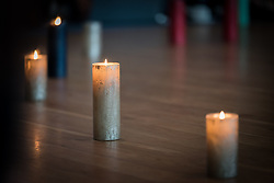 21 August 2018, De Glind, Netherlands: A life pearl prayer service with youth from the Netherlands and across the world. Through the service participants sing songs and light candles, each symbolizing an aspect of life, death, silence, and prayer. ìOn the Moveî is the theme as 12 Dutch and 12 international youth gather for a Youth Pilgrimage in the Netherlands on 21-23 August. Gathering as part of the celebrations of the World Council of Churches 70th anniversary in 2018, the youth spend three days together to explore what it means to be young pilgrims in the ecumenical movement today.