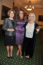 Left to right, JOY PINKHAM, her daughter NATALIE PINKHAM and MARIA WALBYOFF at a reception for The Mirela Fund in partnership with Hope and Homes for Children hosted by Natalie Pinkham in The Churchill Room, House of Commons, London on 30th April 2013.