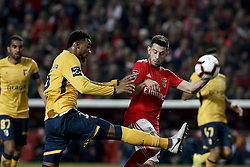 December 23, 2018 - Lisbon, Portugal - Bruno Viana of Braga (L) vies for the ball with Pizzi of Benfica (R)  during the Portuguese League football match between SL Benfica and SC Braga at Luz Stadium in Lisbon on December 23, 2018. (Credit Image: © Carlos Palma/NurPhoto via ZUMA Press)