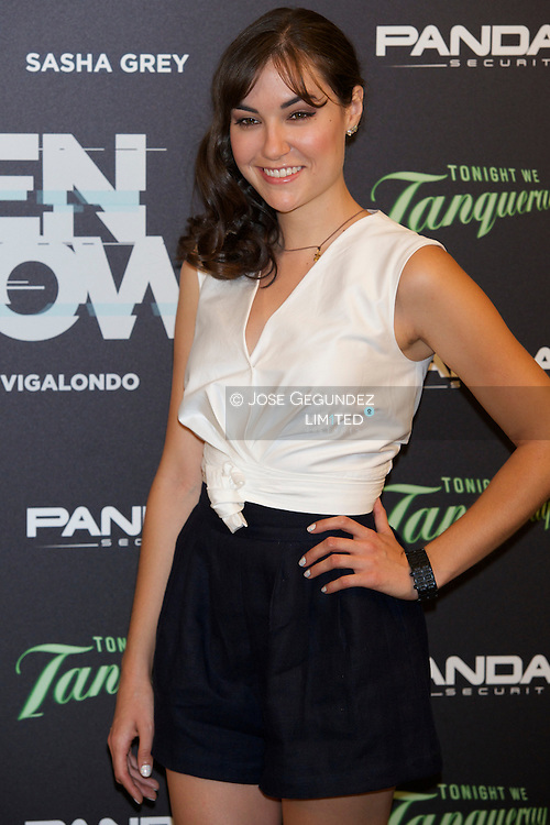 Actress Sasha Grey attends 'Open Window' photocall at USER Offices on June 30, 2014 in Madrid