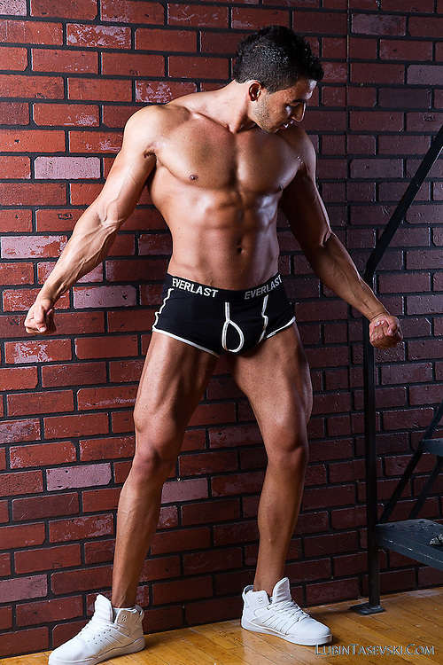 Body builder studio shoot